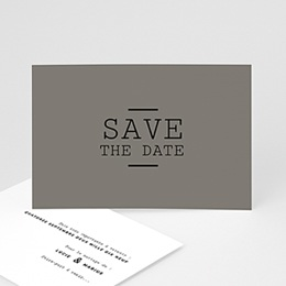 Save the date Mariage Cappuccino