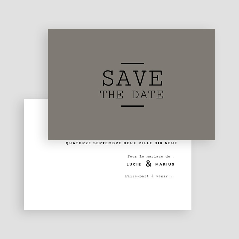 Save-The-Date - Cappuccino 65659 thumb