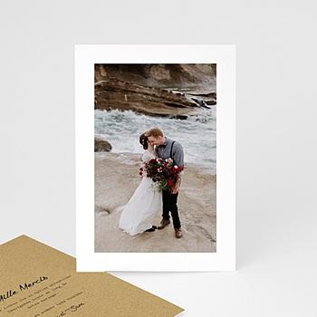 Carte remerciements mariage love à personnaliser