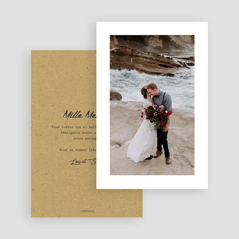 Carte Remerciements Mariage Love gratuit