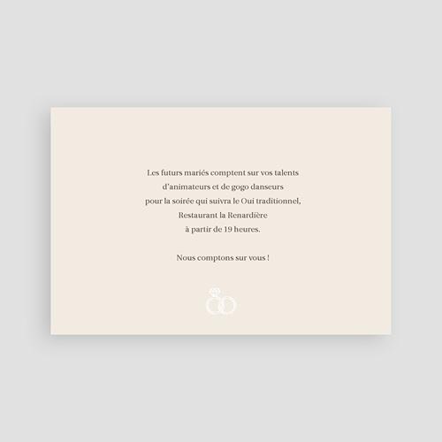 Carton Invitation Personnalisé Accord d'Alliances pas cher