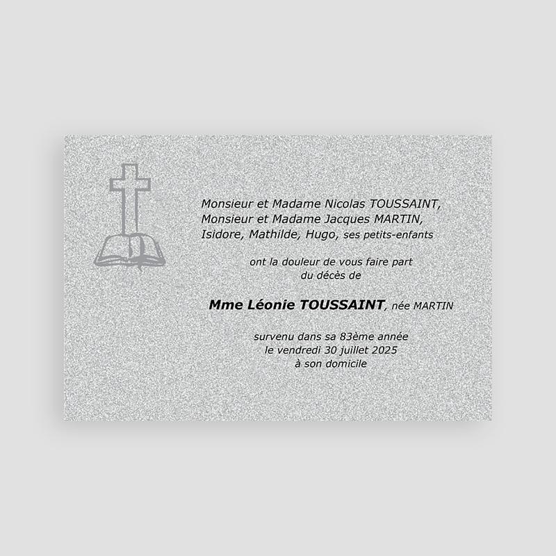 Carte Remerciement Décès Chrétien Parcelle d'éternité pas cher