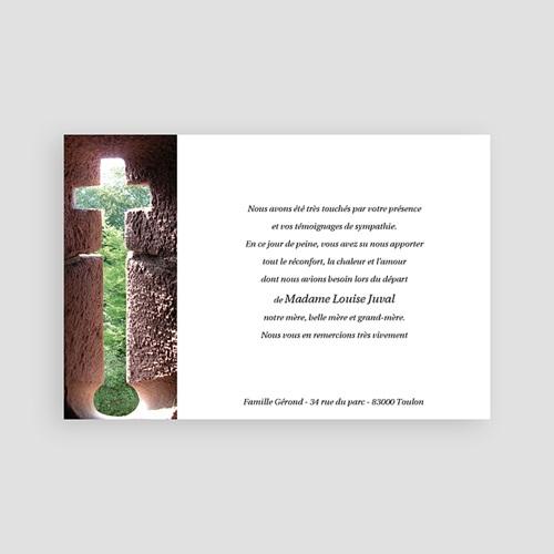 Carte remerciement décès chrétien Croix et Pierre pas cher