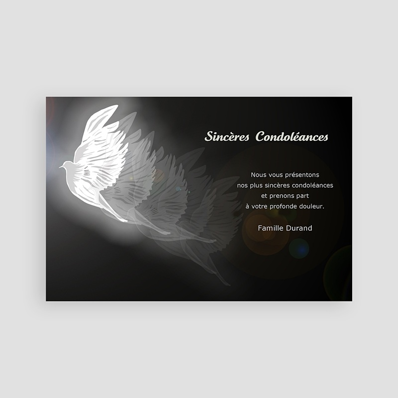 Carte Remerciement Décès Universel Condoléance pas cher