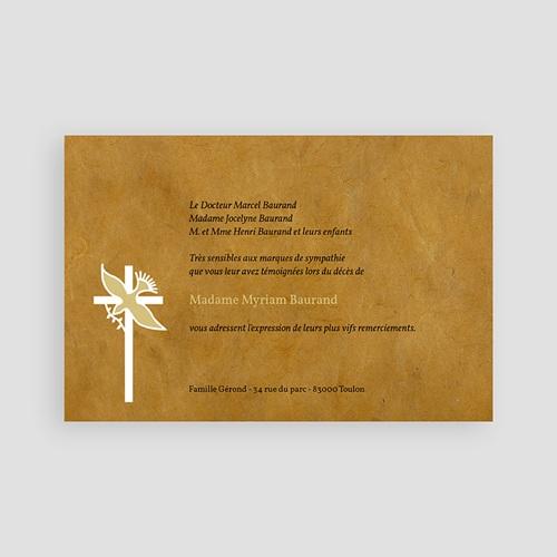 Remerciements Décès Chrétien - Colombe sur la brune 65812 thumb