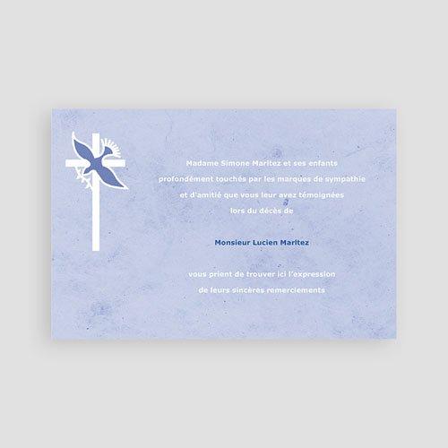 Remerciements Décès Chrétien - Colombe dans la brume 65815 thumb
