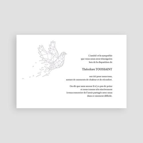Carte remerciement décès universel Paix éternelle - Violine pas cher