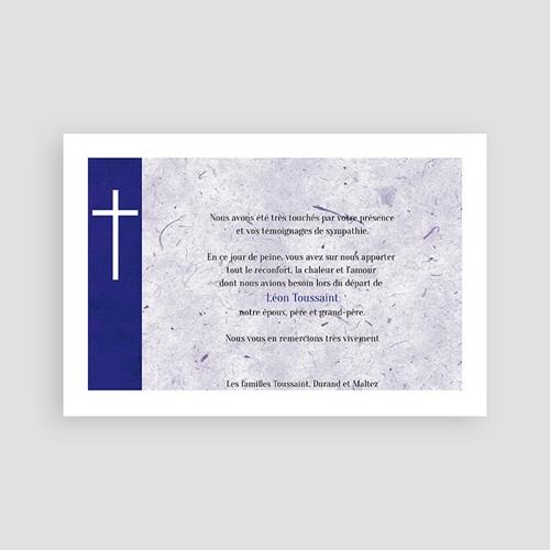 Carte remerciement décès chrétien Condoléant pas cher