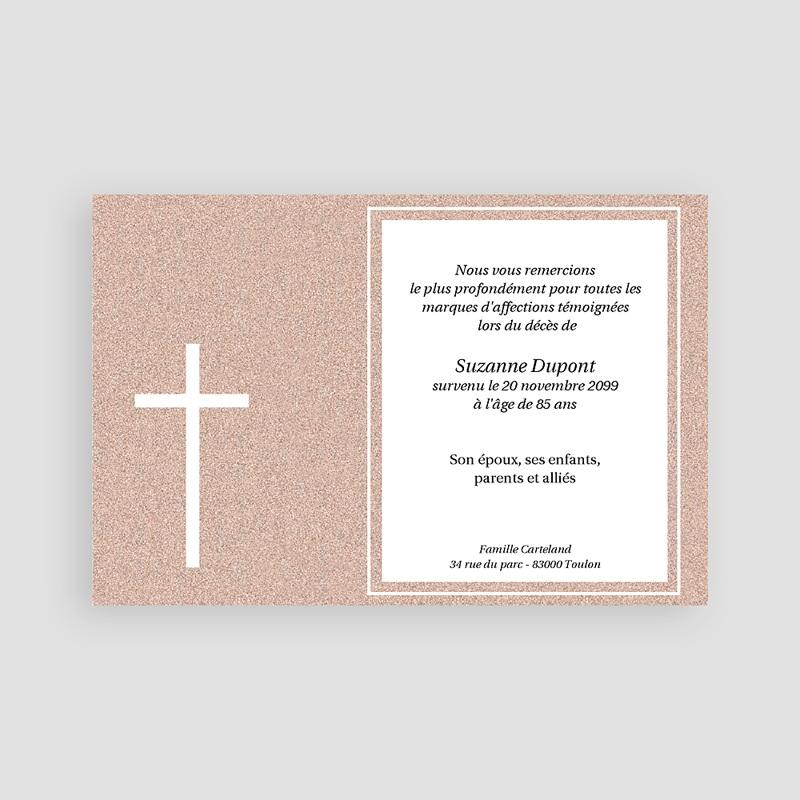 Carte remerciement décès chrétien Carte souvenir granite pas cher