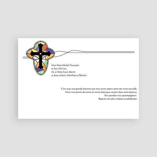 Remerciements Décès Chrétien - Croix de lumière -2 65828 thumb