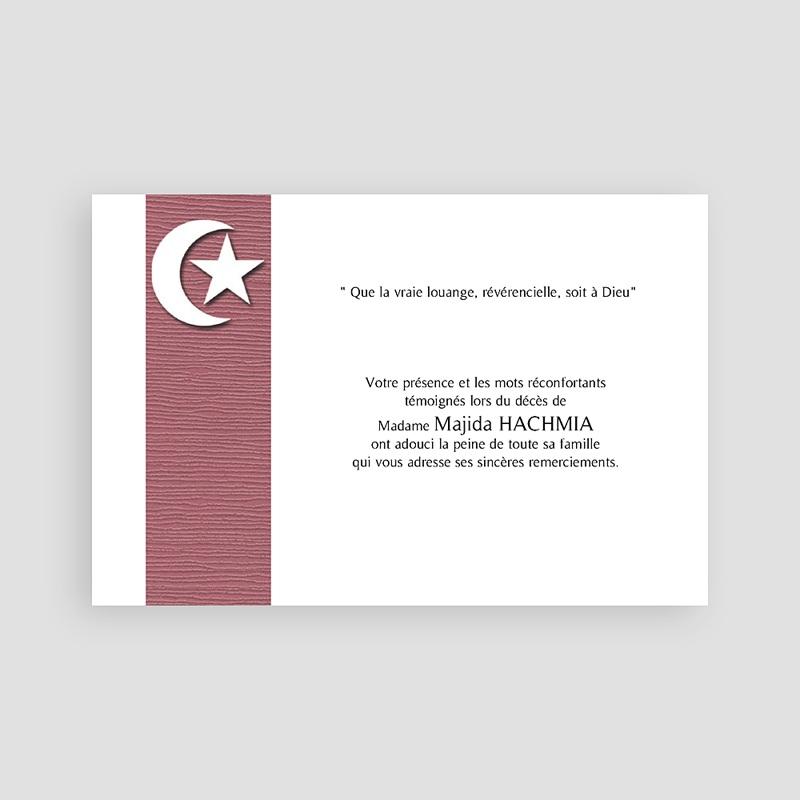 Remerciements Décès Musulman - Etoile et plénitude  65835 thumb