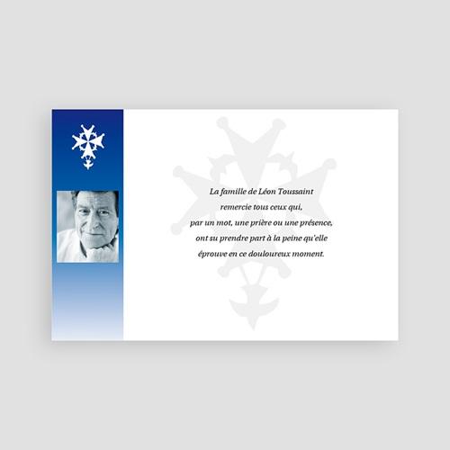 Remerciements Décès Chrétien - Dévotion bleue - photo 65859 thumb
