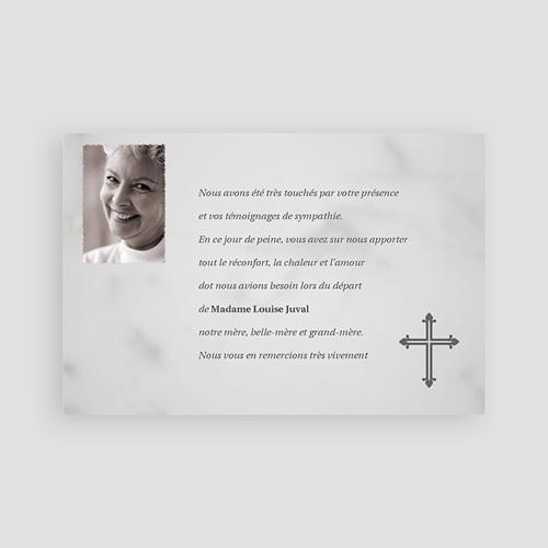 Carte remerciement décès chrétien Supplice  pas cher