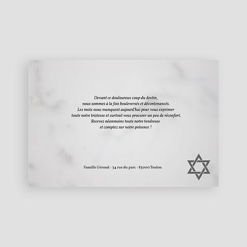 Carte Remerciement Décès Juif Matzevah - 2 pas cher