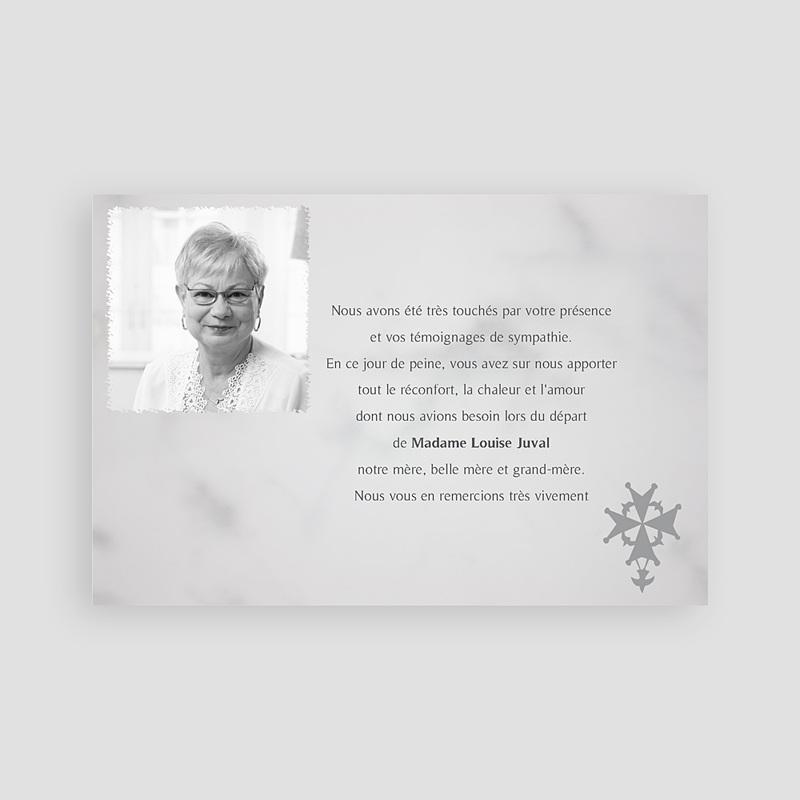 Carte remerciement décès chrétien Protestant - remerciements pas cher