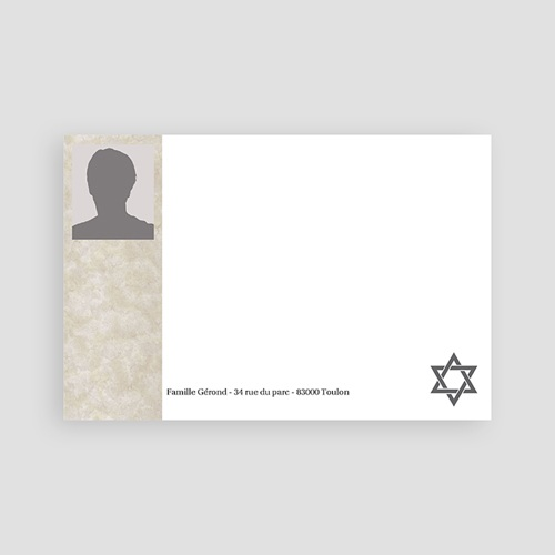 Carte remerciement décès juif Yahrzeit  pas cher
