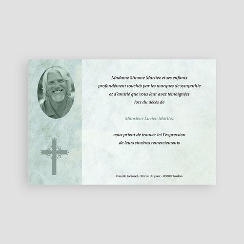 Carte remerciement décès chrétien Lumière éternelle pas cher