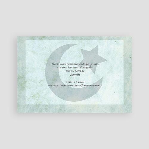 Carte Remerciement Décès Musulman Al mawt matkuba  pas cher