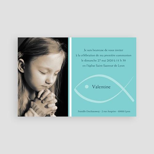 Faire-part Communion Fille - Symbolique du miracle 65906 thumb