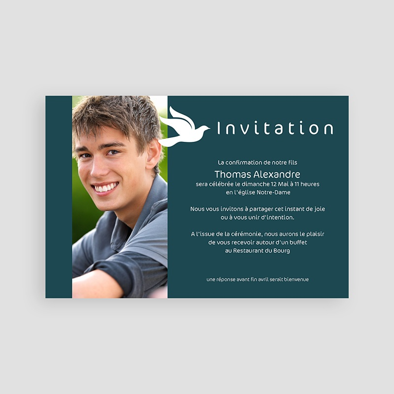Carte Invitation Confirmation Confirmation pas cher