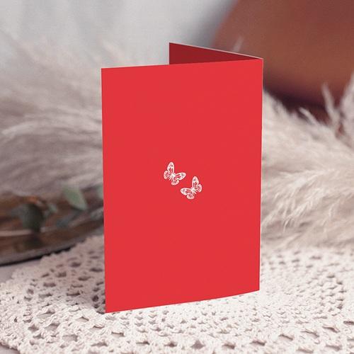 Menu Mariage Personnalisé Papillons d'amour Doubles gratuit