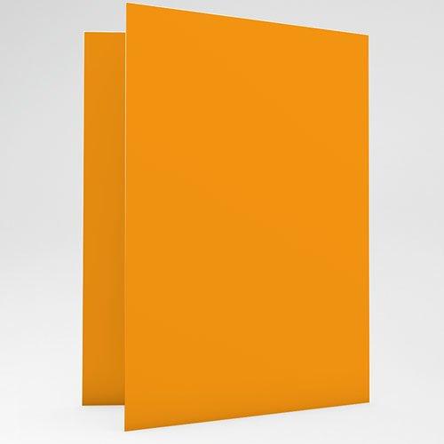 Faire-Part Naissance Garçon Victor - Rayures Orange gratuit