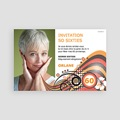 Invitation Anniversaire Adulte - So Sixties 65967 thumb