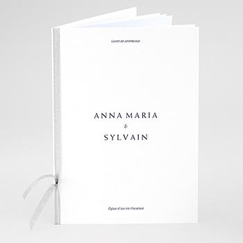 Achat livret messe mariage nuances minimalistes