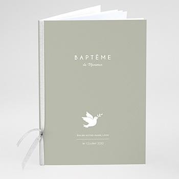 Acheter livret messe baptême colombe blanche fond olive