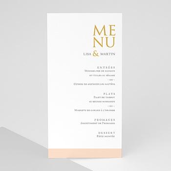 Menu de Mariage - Tendance dorée - 0