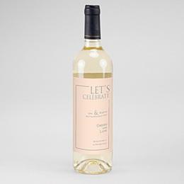 Etiquette bouteille mariage Rosé
