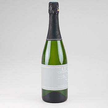 Etiquette bouteille mariage Tendance gris blanc