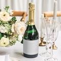 Etiquette Bouteille Mariage Tendance gris blanc gratuit
