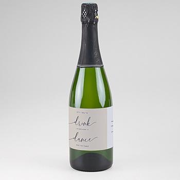 Achat etiquette bouteille mariage modern minimalist