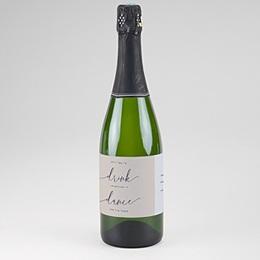 Étiquette bouteille mariage Modern Minimalist