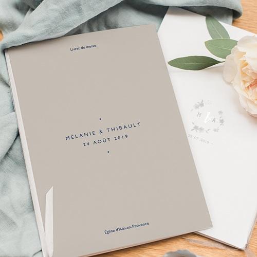 Livret Messe Mariage Modern Minimalist pas cher