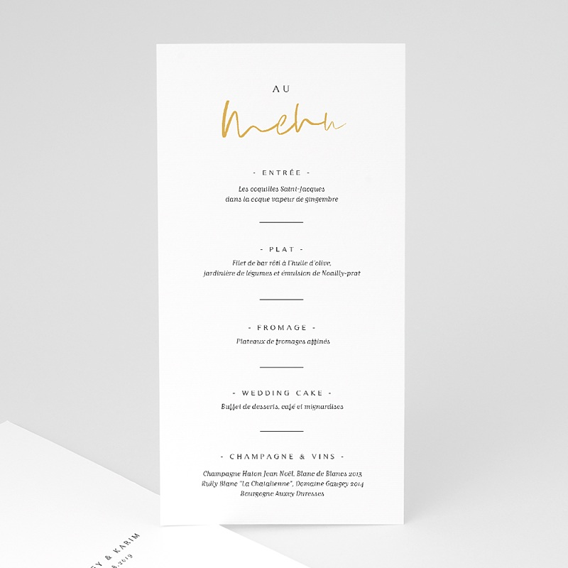 Menu de Mariage - On se Marie 66206 thumb