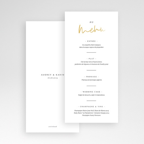 Menu de Mariage - On se Marie 66207 thumb