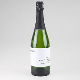 Étiquette bouteille mariage Tradition modernisée