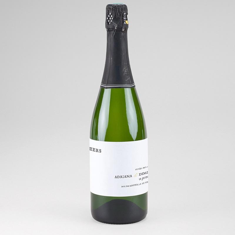 Etiquette bouteille mariage Tradition modernisée