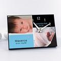 Horloge Personnalisée Photo - Instant Présent - Bleu - 484