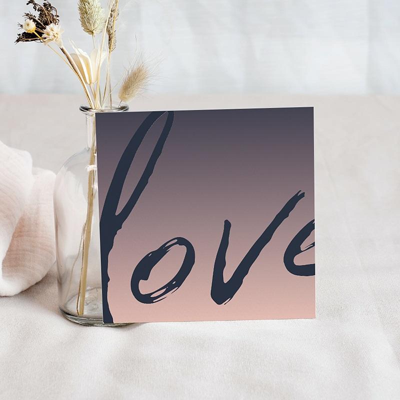 Carte Invitation Mariage Love Rosé pas cher
