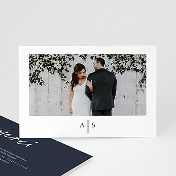 Carte remerciement mariage love blue pas cher