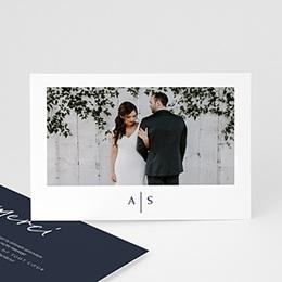 Carte remerciement mariage Love blue