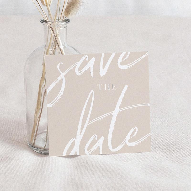 Save The Date Mariage Nuances rosées, 10 x 10 cm