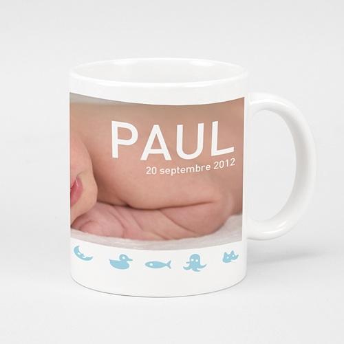 Mug Personnalisé Photo Animaux Bleus