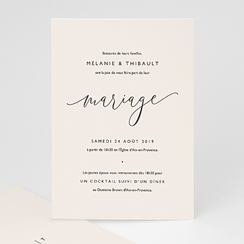 Faire-part mariage Nude Chic