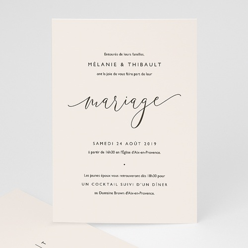 Faire Part Mariage chic - Nude Chic 66420 thumb