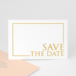 Save the date mariage Tendance dorée
