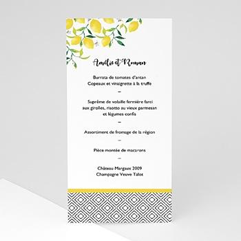 Menu de Mariage - Parfum d'agrumes - 0